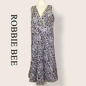 Robbie Bee Fit Flare Floral Dress Size 18W